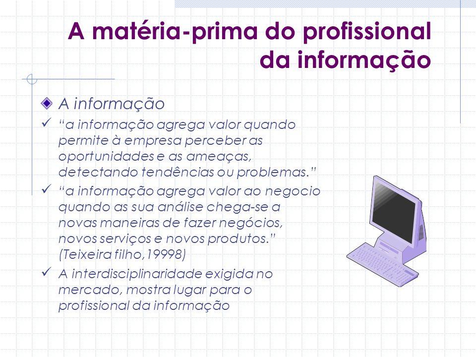 A matéria-prima do profissional da informação