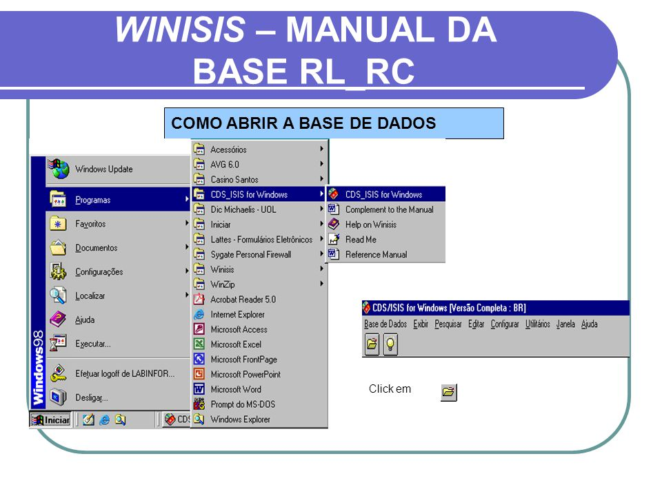 WINISIS – MANUAL DA BASE RL_RC