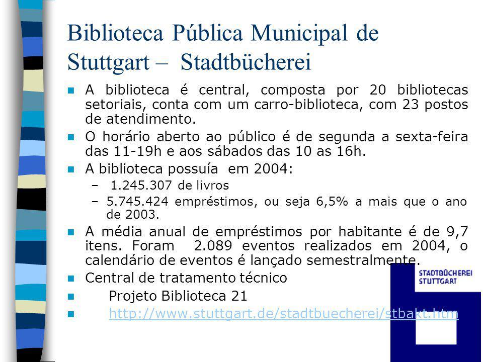 Biblioteca Pública Municipal de Stuttgart – Stadtbücherei