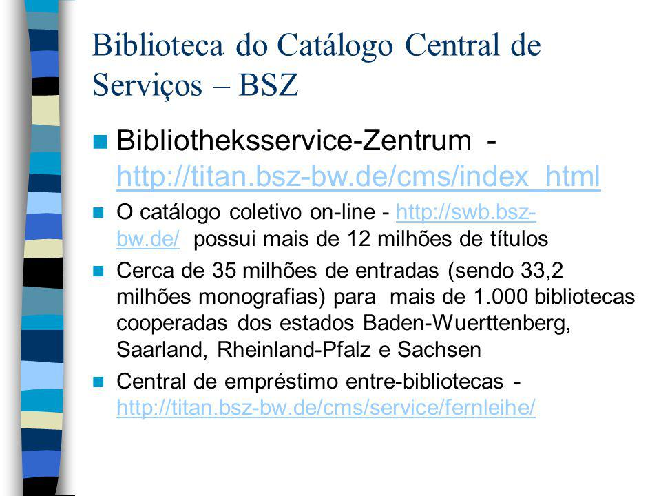 Biblioteca do Catálogo Central de Serviços – BSZ