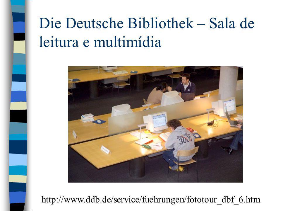 Die Deutsche Bibliothek – Sala de leitura e multimídia