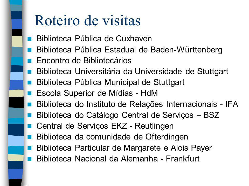 Roteiro de visitas Biblioteca Pública de Cuxhaven