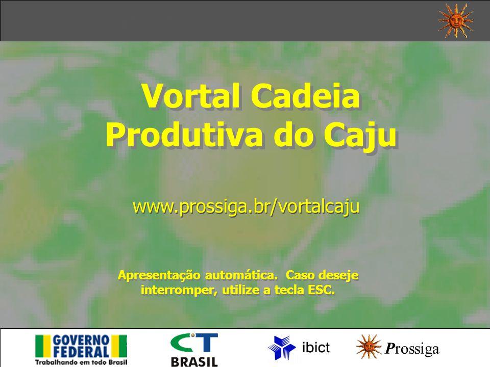 Vortal Cadeia Produtiva do Caju Vortal Cadeia Produtiva do Caju