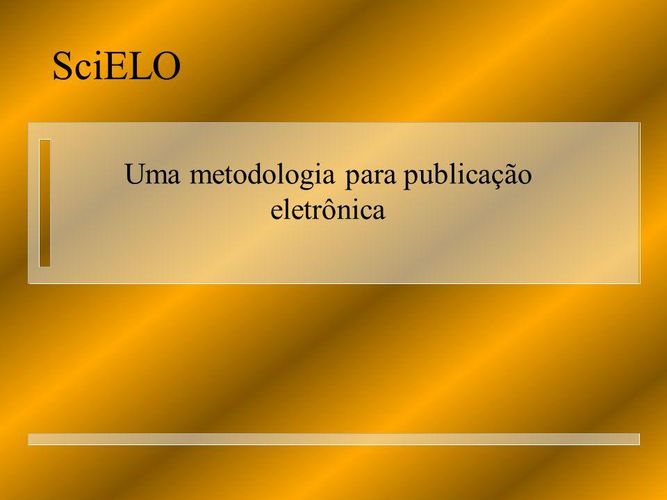 Uma metodologia para publicação eletrônica
