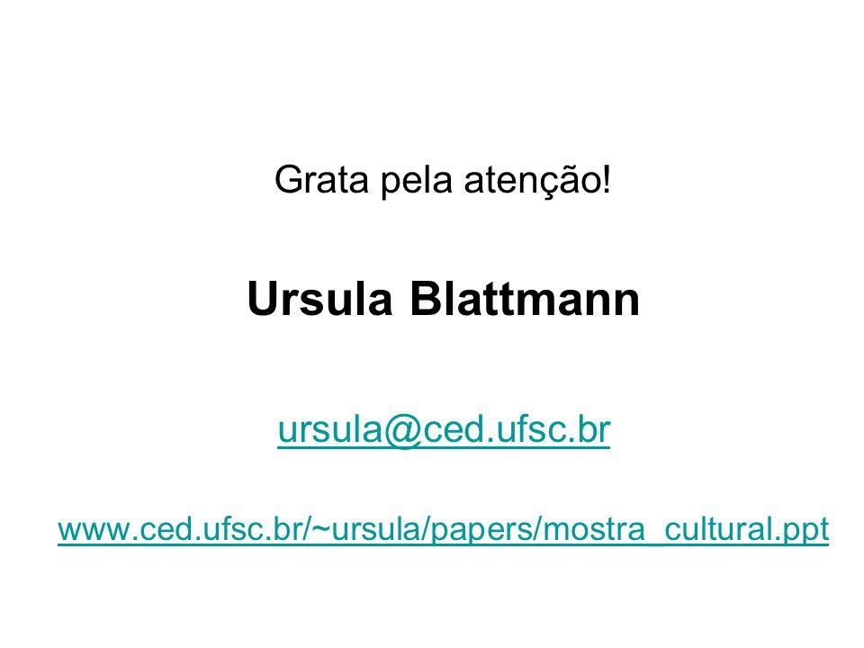 Ursula Blattmann Grata pela atenção! ursula@ced.ufsc.br