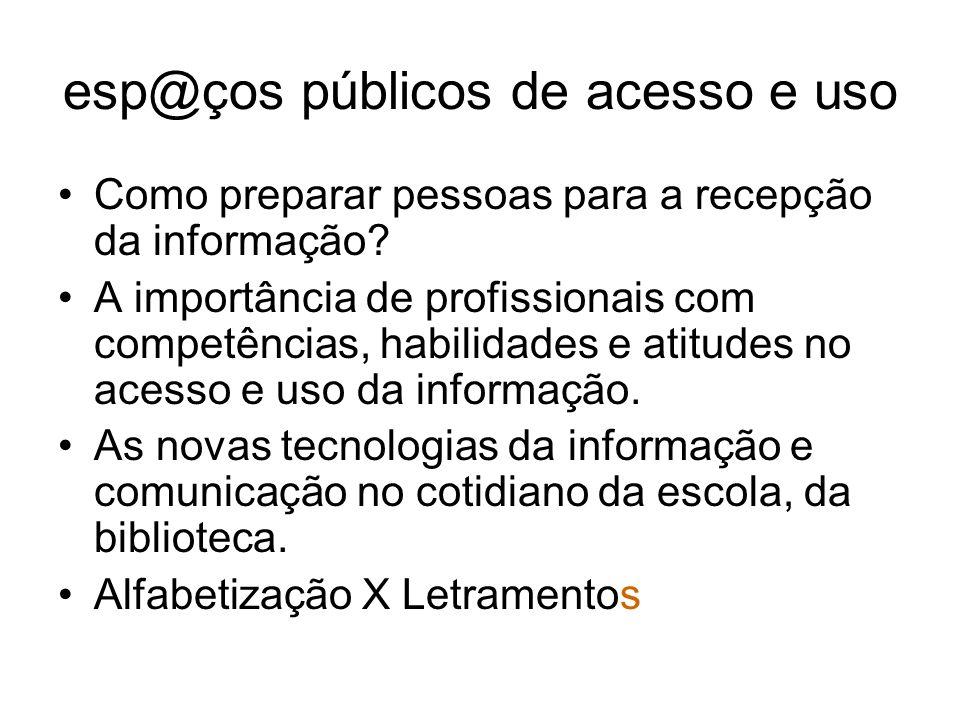 esp@ços públicos de acesso e uso