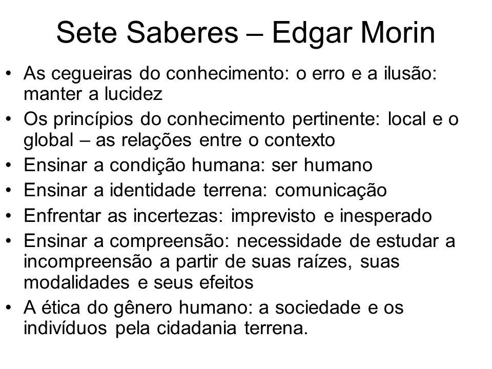Sete Saberes – Edgar Morin