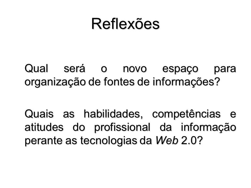 Reflexões Qual será o novo espaço para organização de fontes de informações