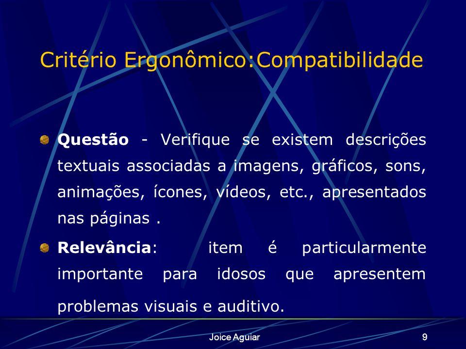 Critério Ergonômico:Compatibilidade