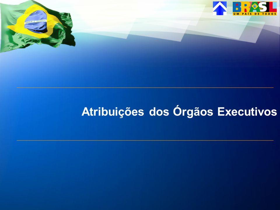 Atribuições dos Órgãos Executivos