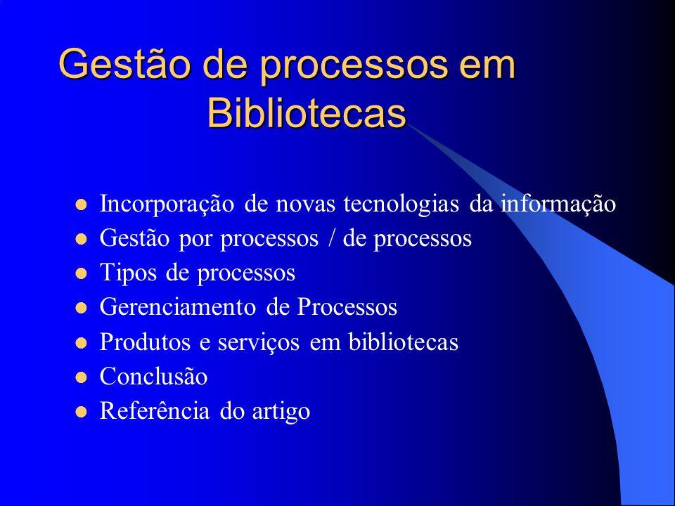 Gestão de processos em Bibliotecas
