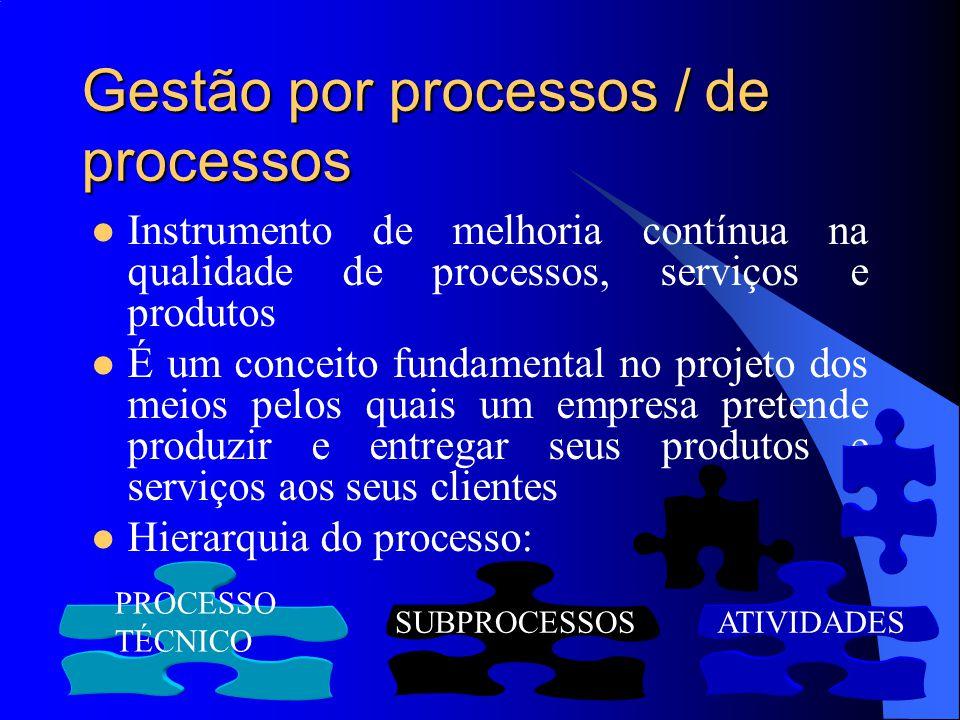 Gestão por processos / de processos