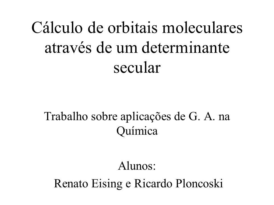 Cálculo de orbitais moleculares através de um determinante secular