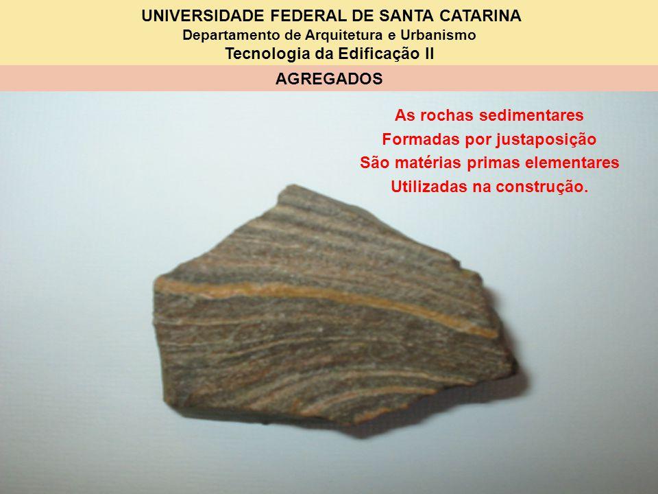As rochas sedimentares Formadas por justaposição