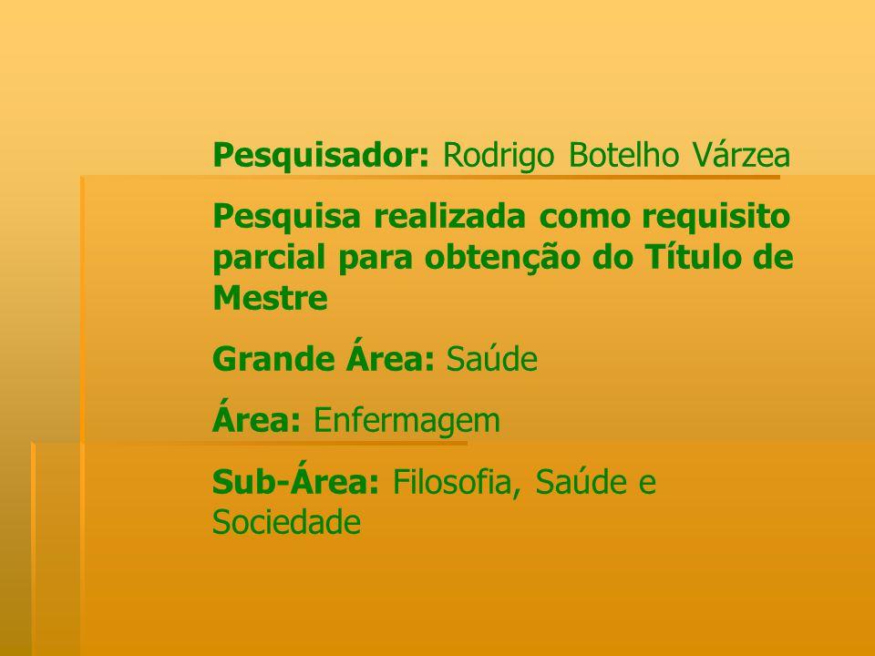 Pesquisador: Rodrigo Botelho Várzea
