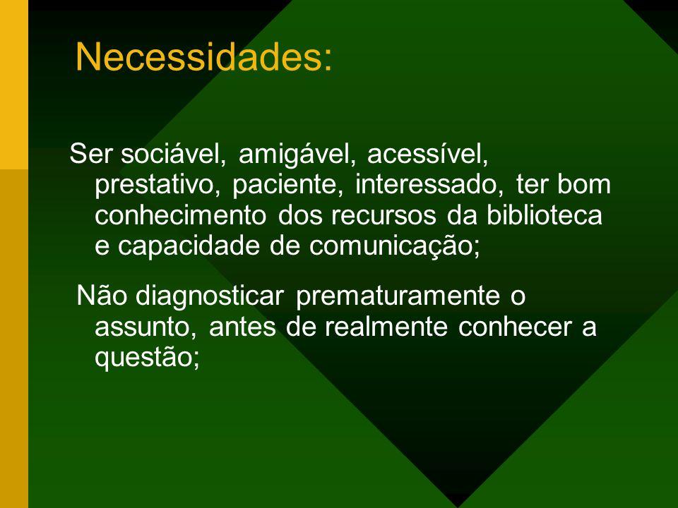 Necessidades:
