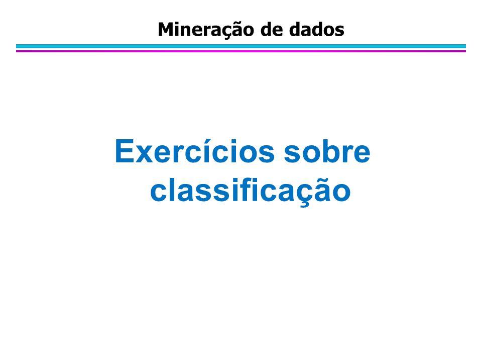 Exercícios sobre classificação