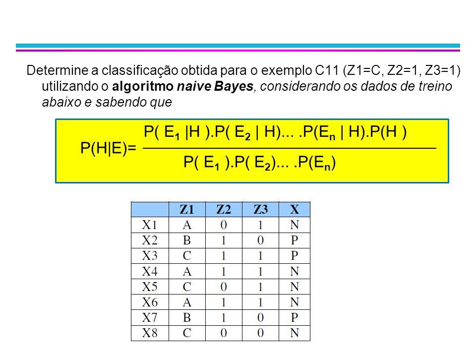 P( E1 |H ).P( E2 | H)... .P(En | H).P(H ) P(H|E)=