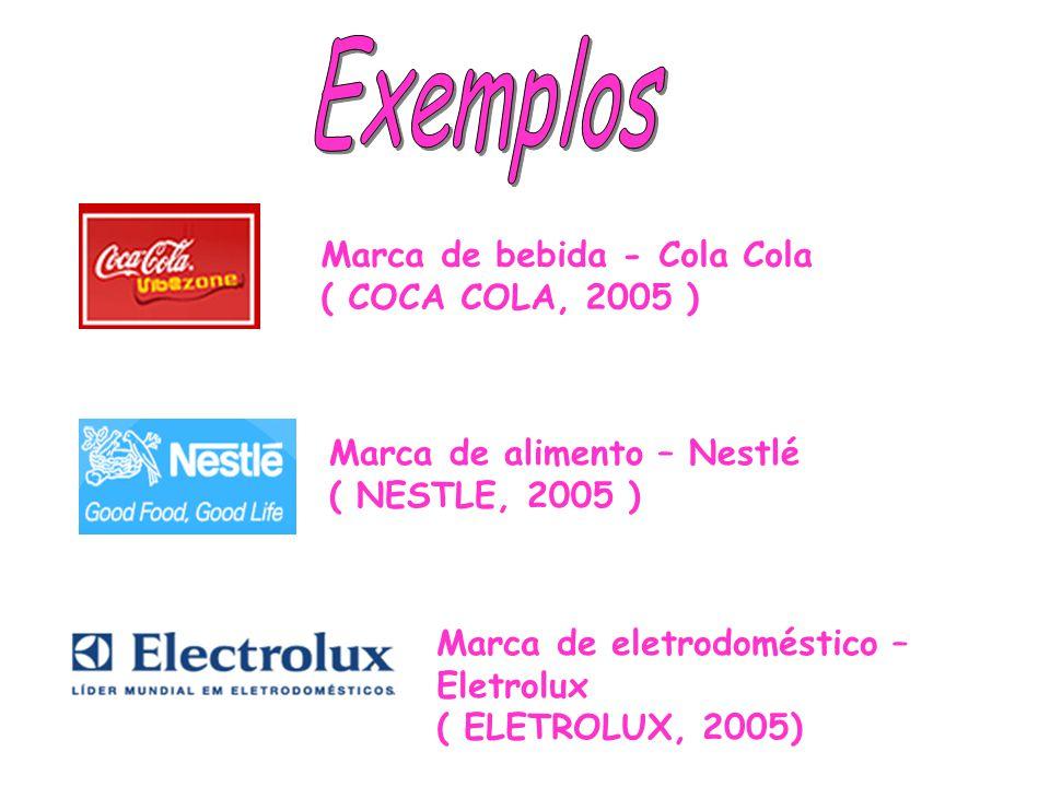 Exemplos Marca de bebida - Cola Cola ( COCA COLA, 2005 )