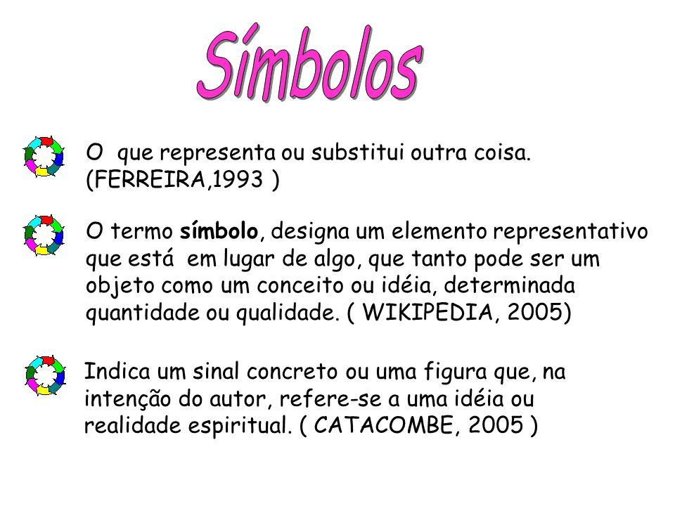 Símbolos O que representa ou substitui outra coisa. (FERREIRA,1993 )