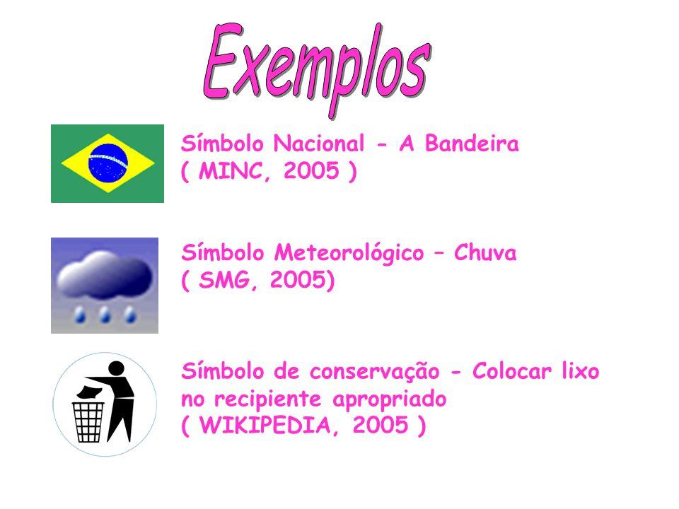 Exemplos Símbolo Nacional - A Bandeira ( MINC, 2005 )
