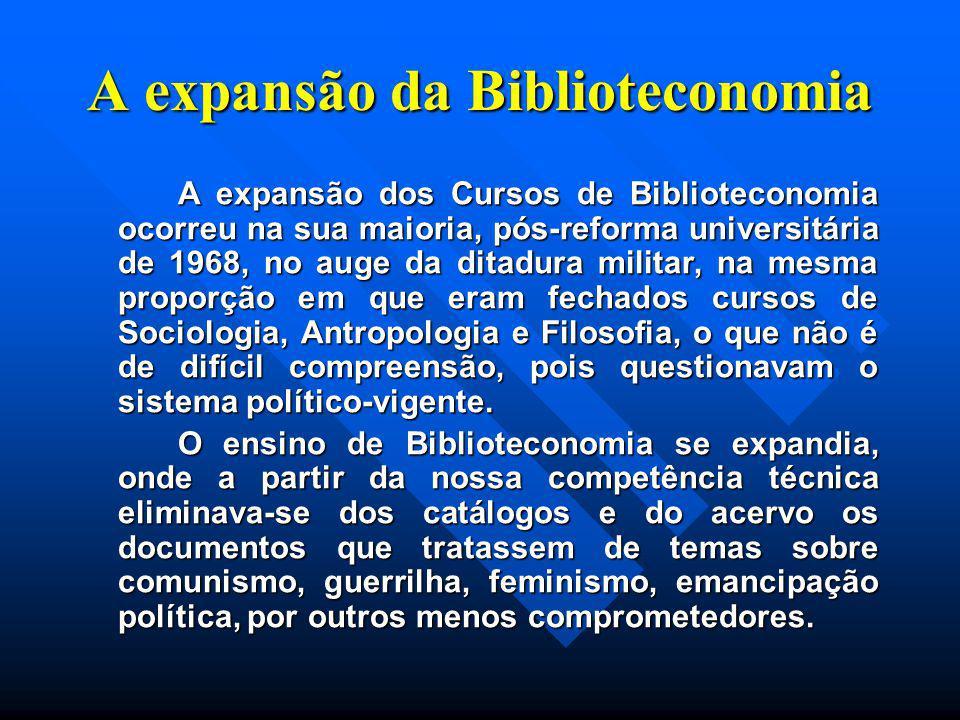 A expansão da Biblioteconomia