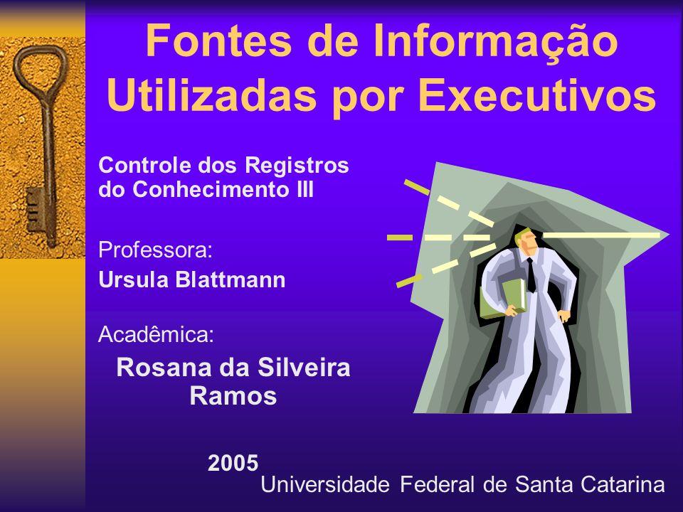 Fontes de Informação Utilizadas por Executivos