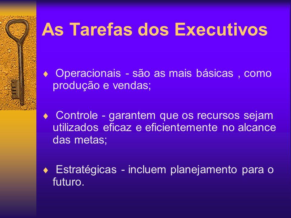 As Tarefas dos Executivos