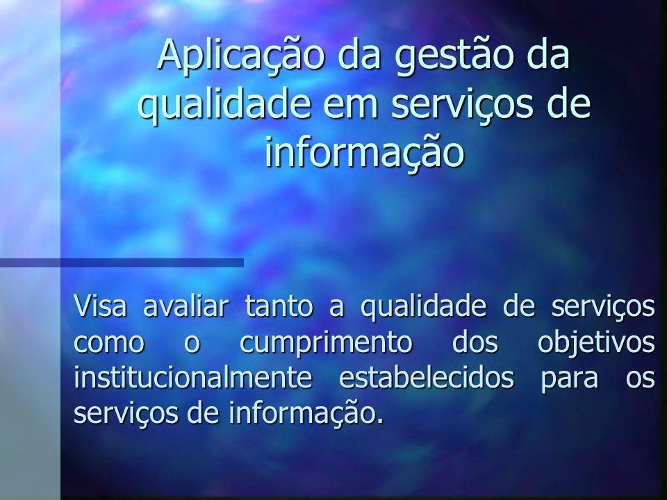Aplicação da gestão da qualidade em serviços de informação