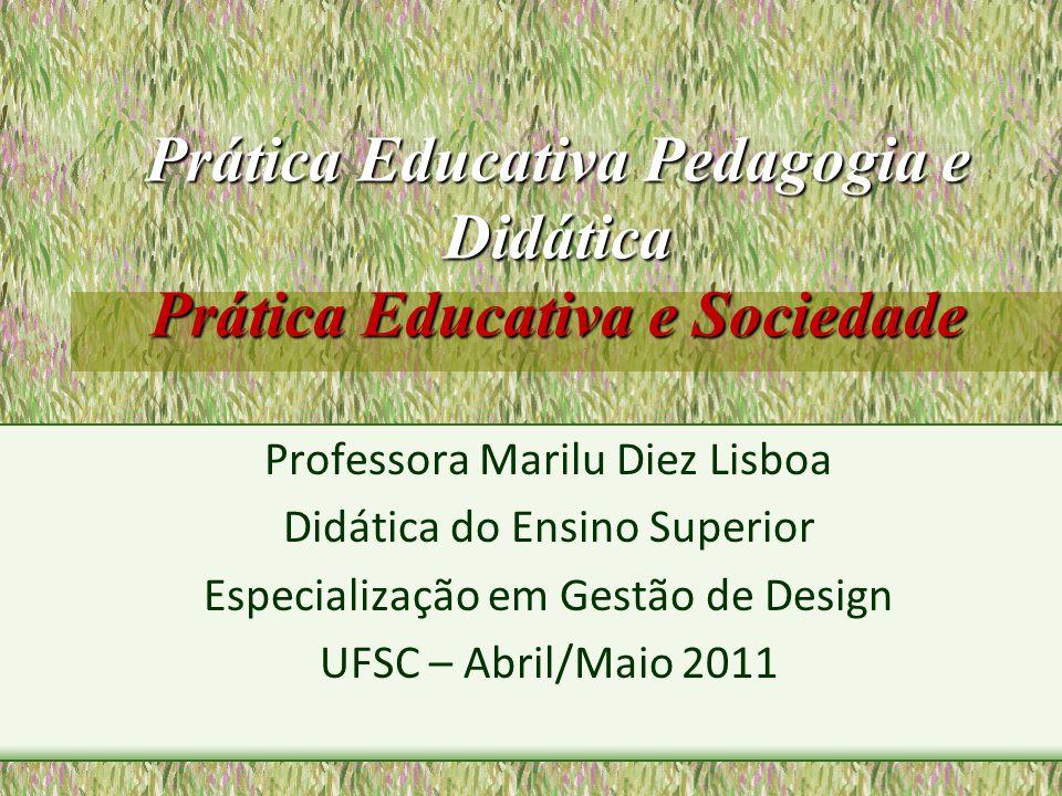 Prática Educativa Pedagogia e Didática Prática Educativa e Sociedade