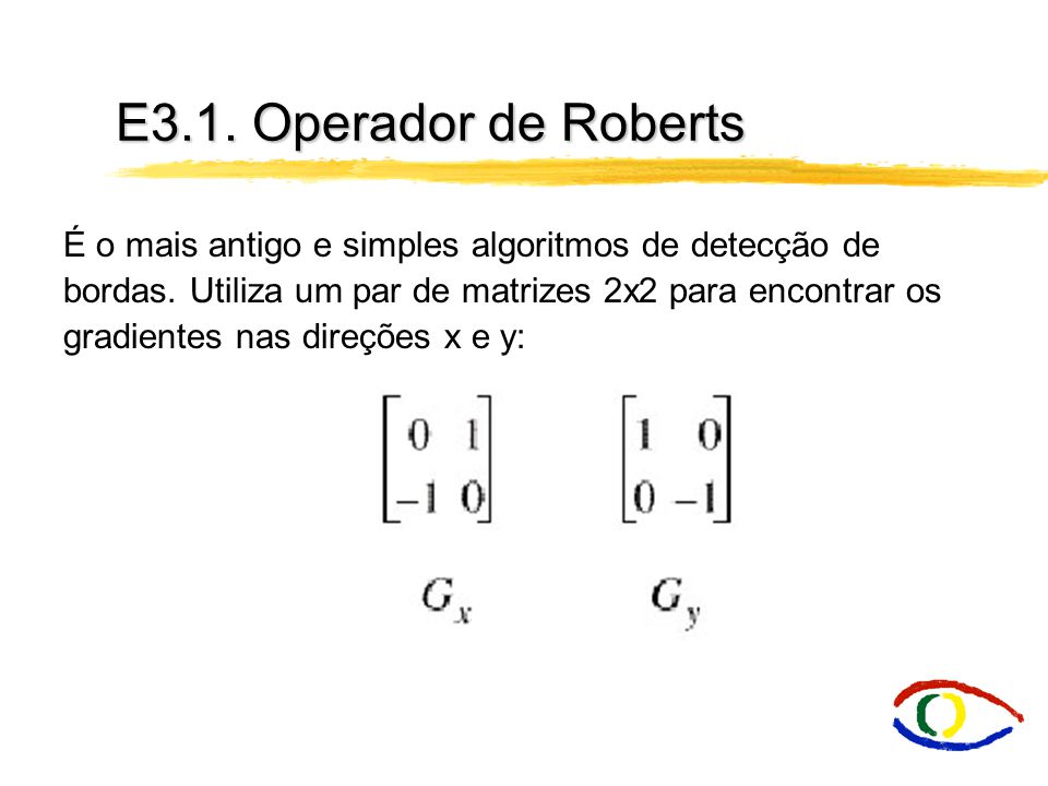 E3.1. Operador de Roberts