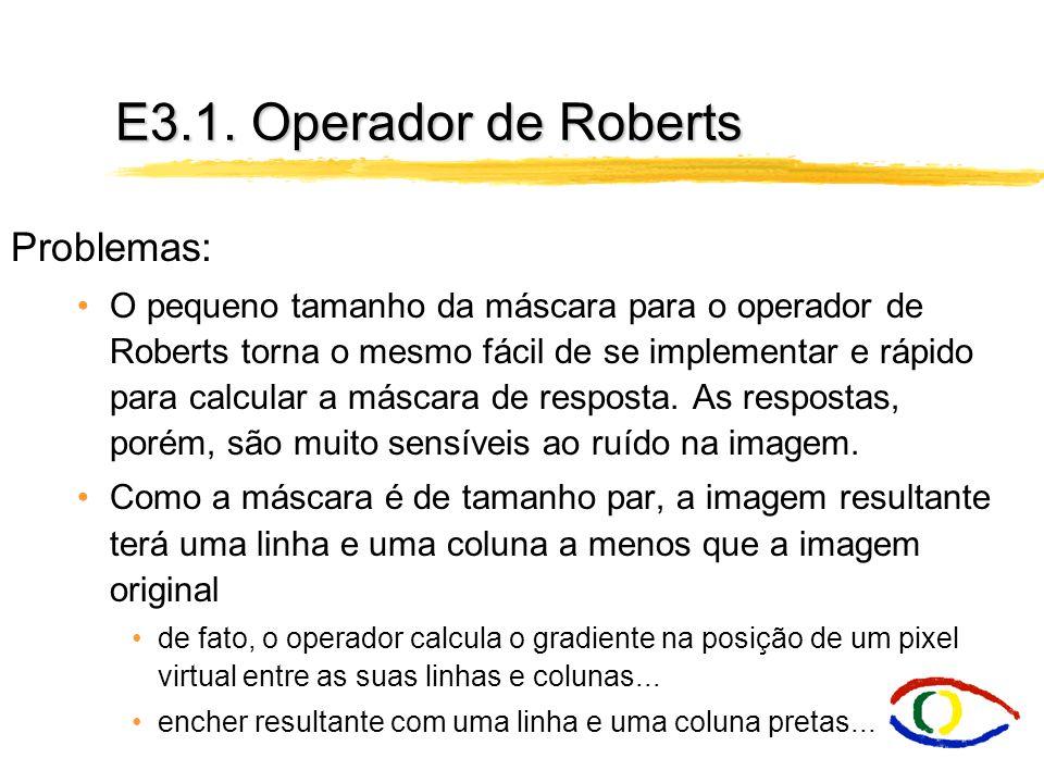 E3.1. Operador de Roberts Problemas: