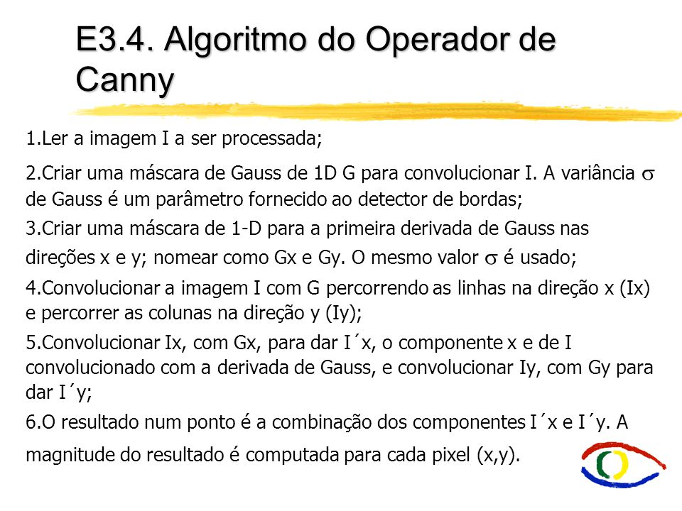 E3.4. Algoritmo do Operador de Canny