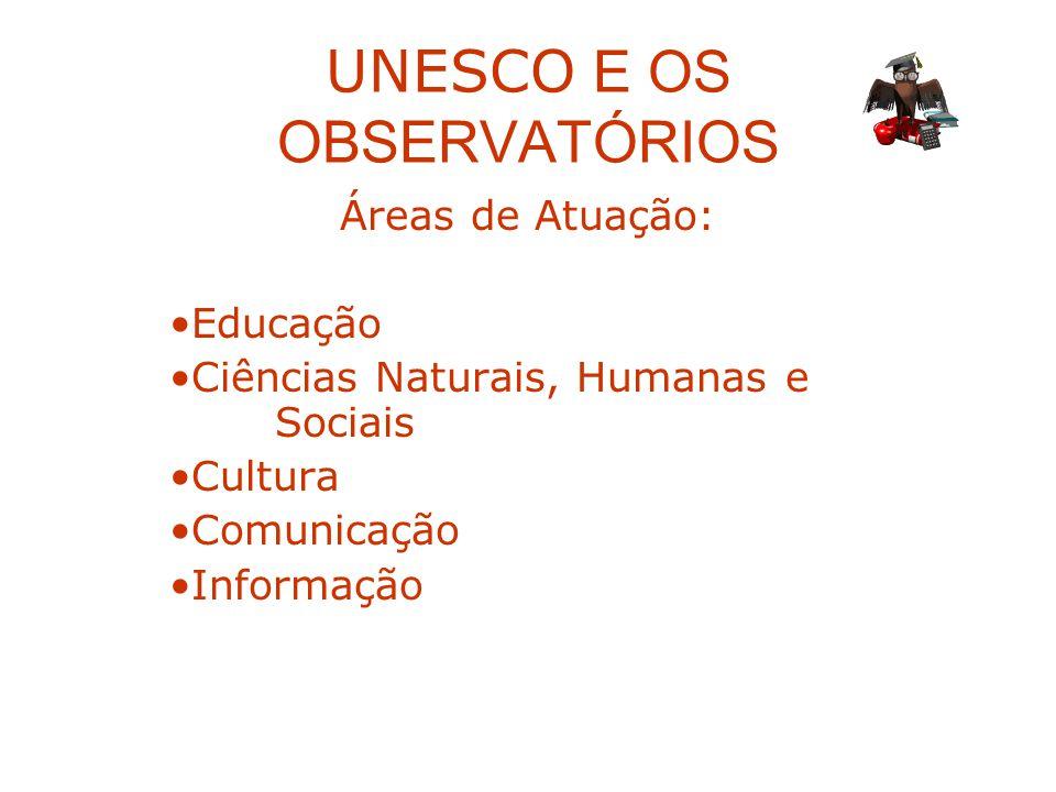UNESCO E OS OBSERVATÓRIOS