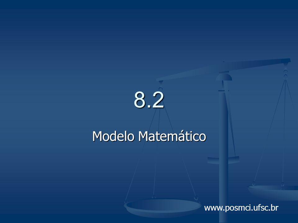 8.2 Modelo Matemático