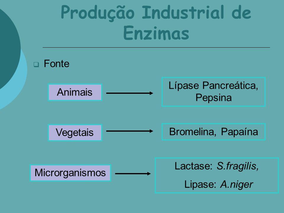 Produção Industrial de Enzimas