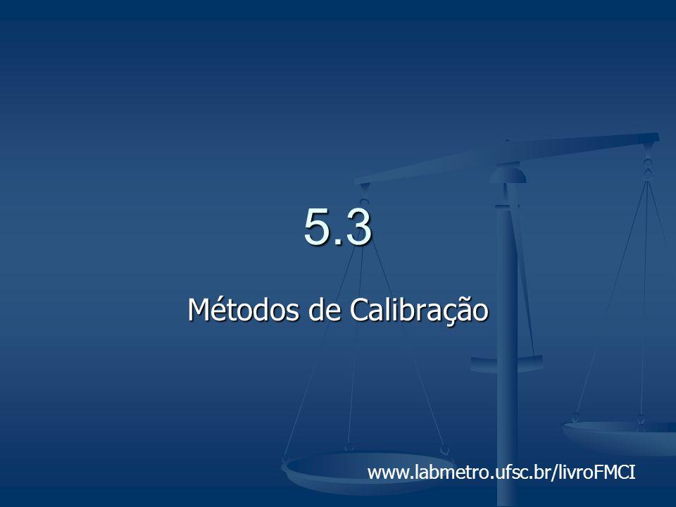 5.3 Métodos de Calibração