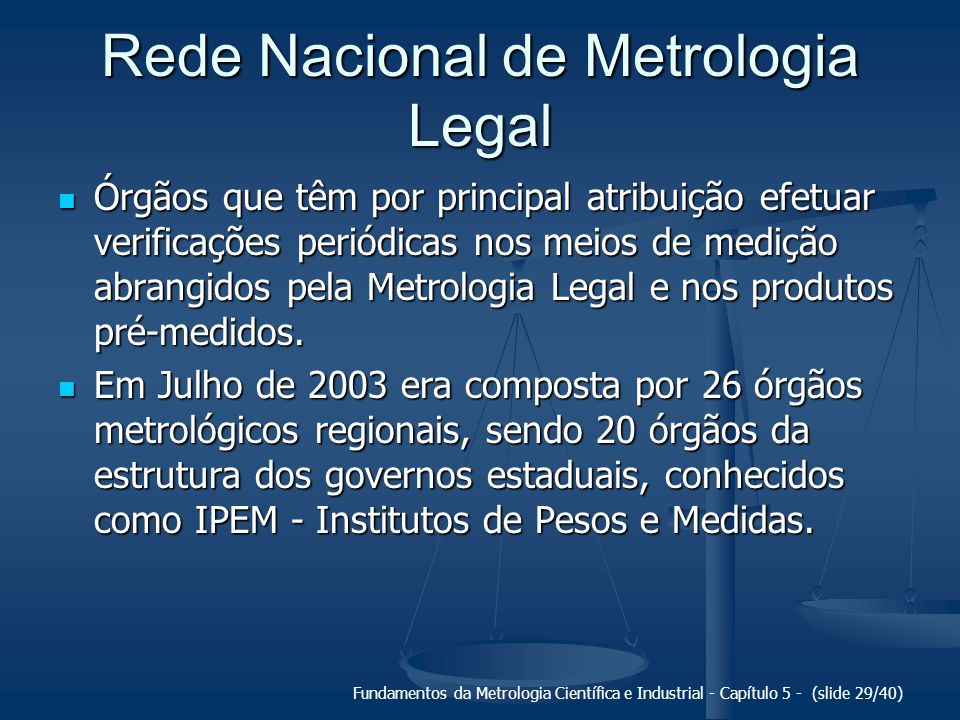 Rede Nacional de Metrologia Legal