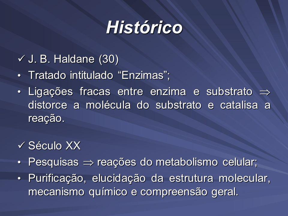 Histórico J. B. Haldane (30) Tratado intitulado Enzimas ;