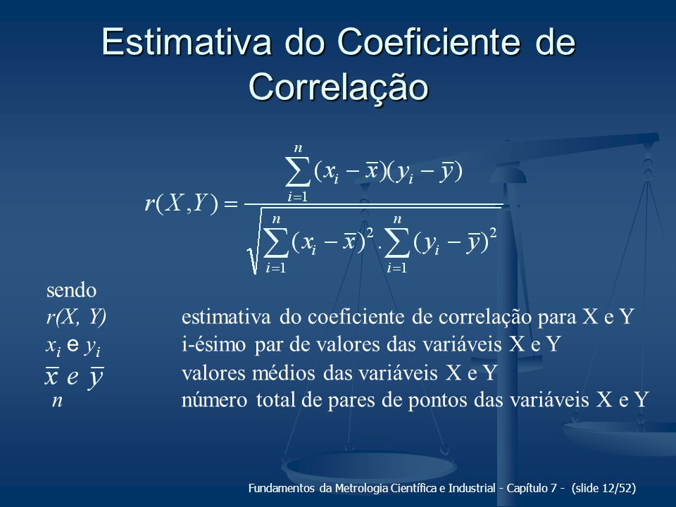 Estimativa do Coeficiente de Correlação