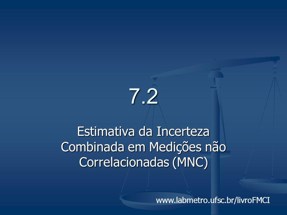 7.2 Estimativa da Incerteza Combinada em Medições não Correlacionadas (MNC)