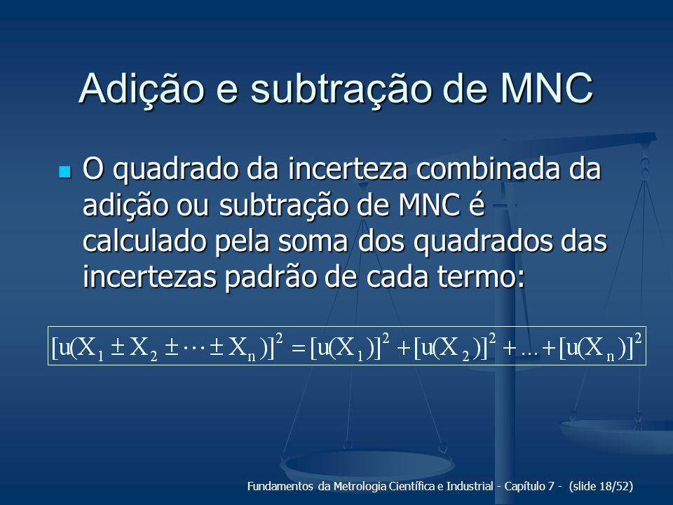 Adição e subtração de MNC