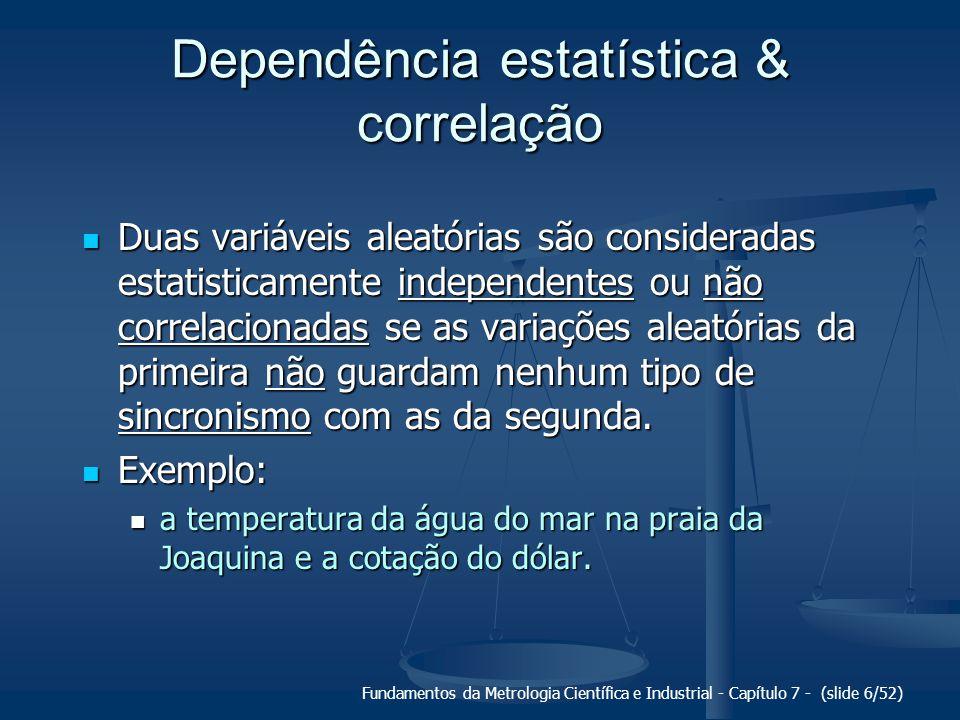 Dependência estatística & correlação