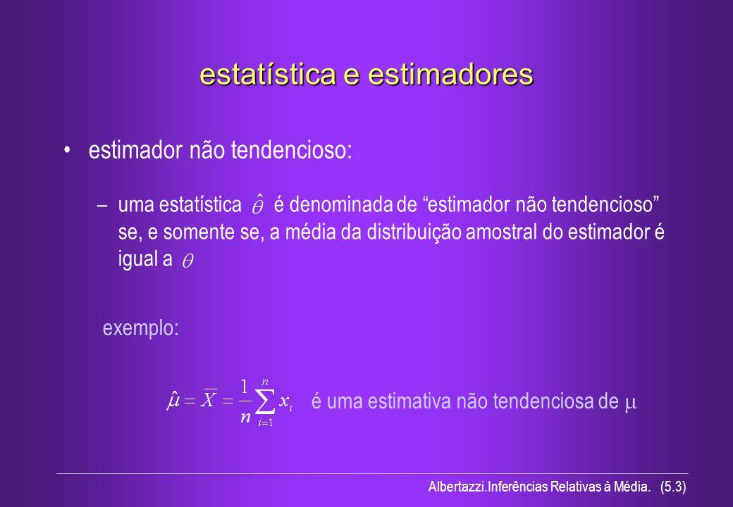 estatística e estimadores