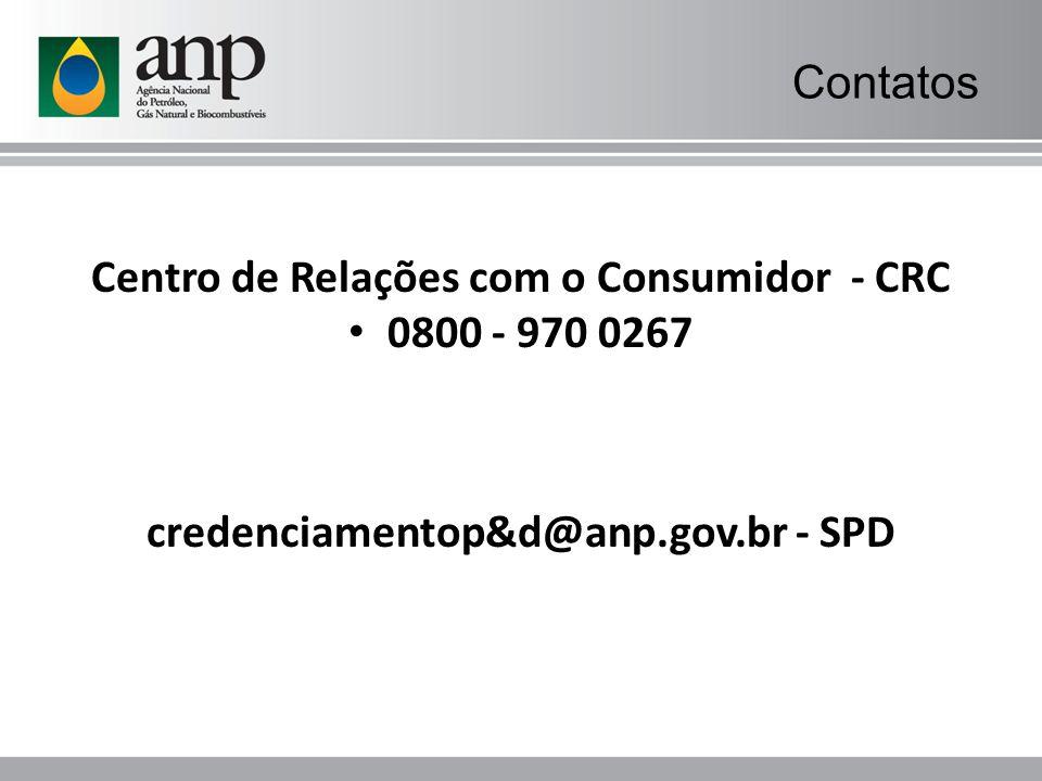 Centro de Relações com o Consumidor - CRC 0800 - 970 0267