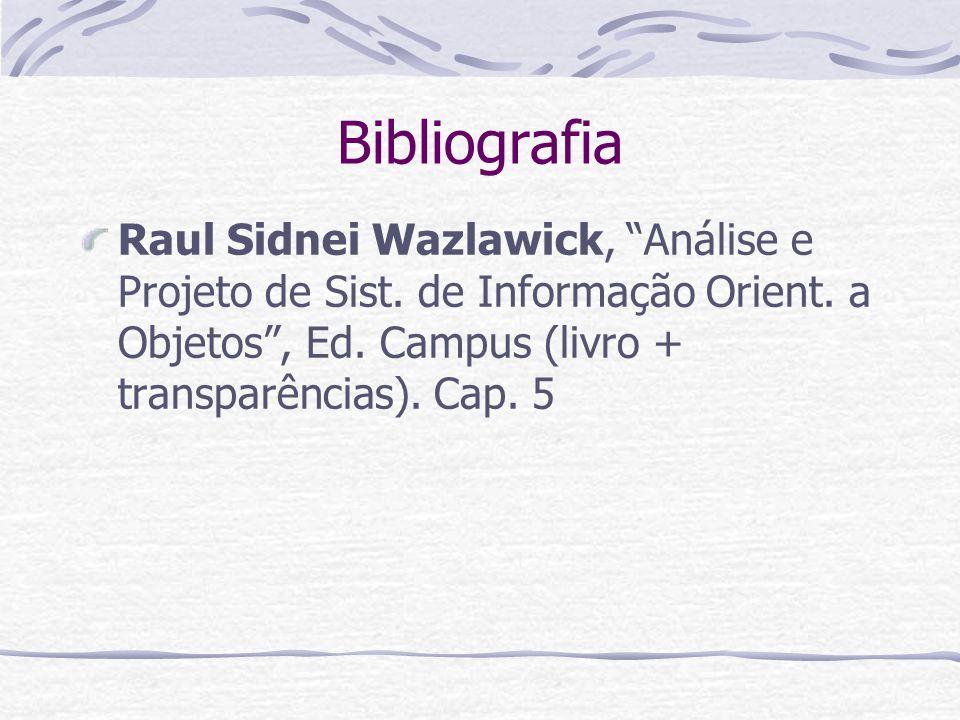 Bibliografia Raul Sidnei Wazlawick, Análise e Projeto de Sist.