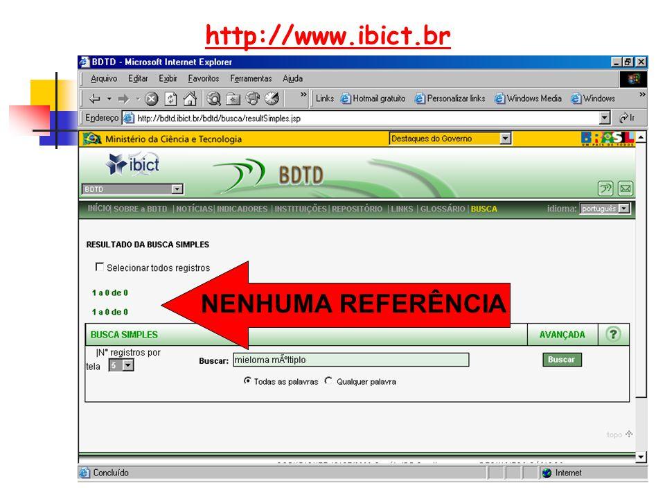 http://www.ibict.br NENHUMA REFERÊNCIA