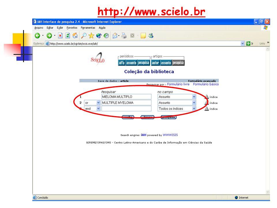 http://www.scielo.br LEVANTAMENTO BIBLIOGRÁFICO