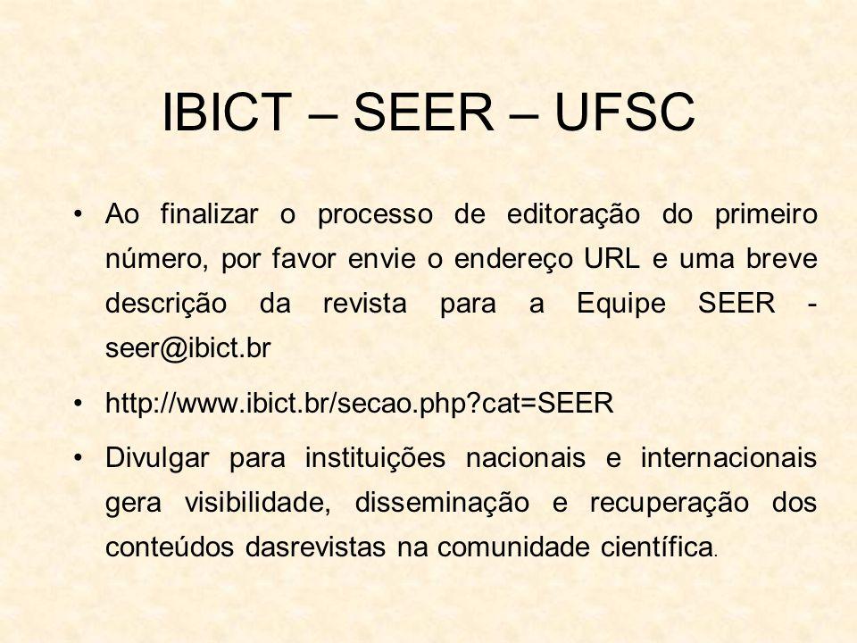 IBICT – SEER – UFSC