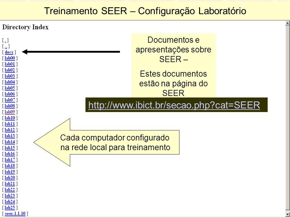 Treinamento SEER – Configuração Laboratório
